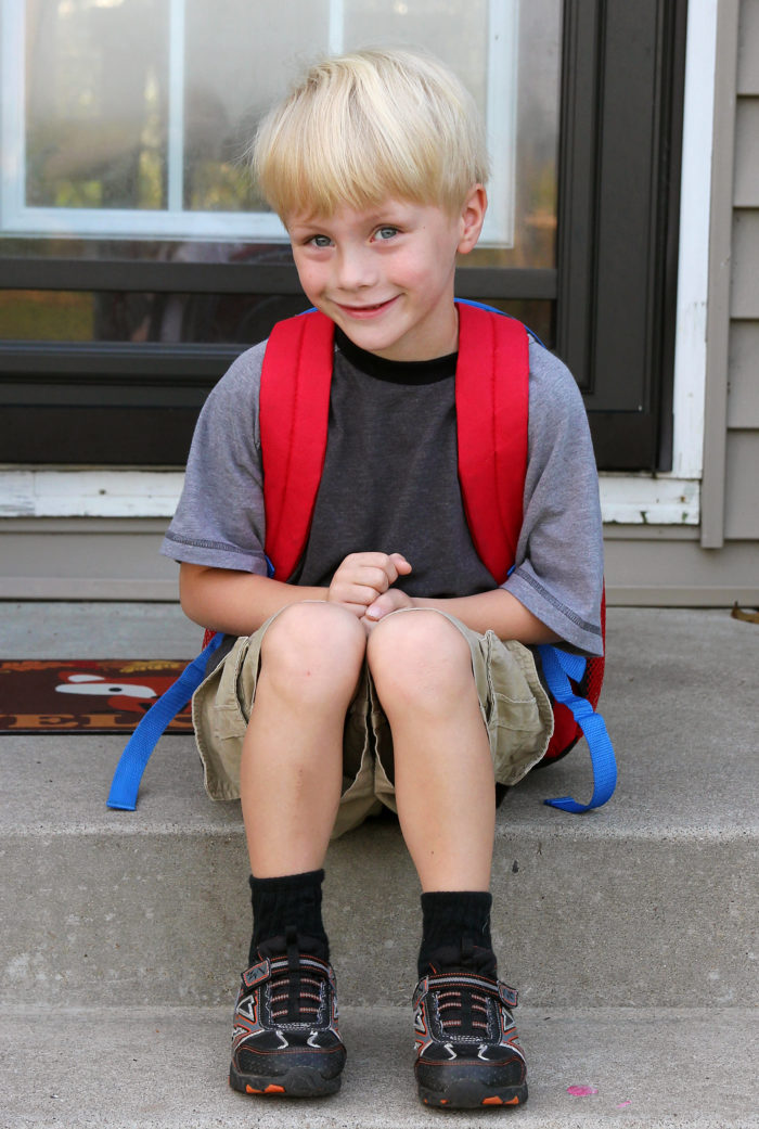 Little Boy First Day of School
